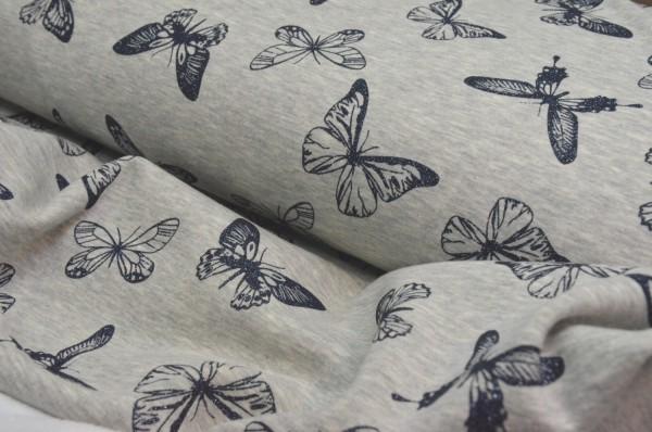 Alpenfleece Schmetterlinge mit Glitzer
