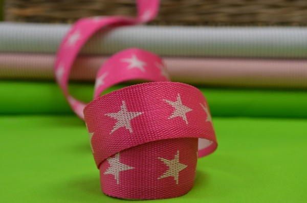 Gurtband Sterne 4 cm / Pink