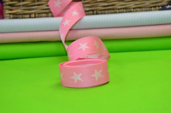 Gurtband Sterne 4 cm / Rosa