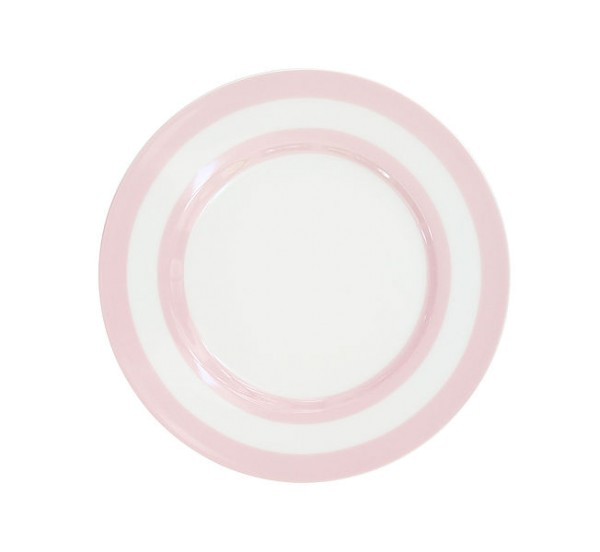 Teller mit Streifen / Rosa