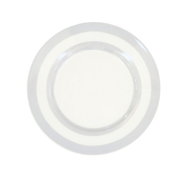 Teller mit Streifen / Grau
