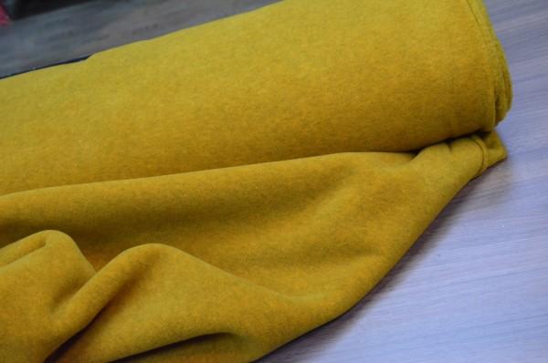 Fleece Stoff / Hilco / Senf